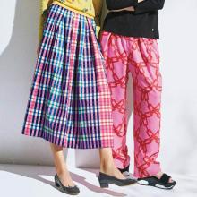 マルチカラー ニットスカート