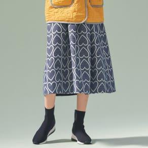 フランス素材 ハートジャカードスカート 写真