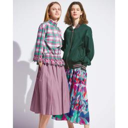 TRECODE/トレコード 神戸・山の手スカート (左)TRECODE/トレコード 神戸・山の手スカート (カ)ラベンダー コーディネート例