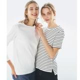 超長綿スビンギザコットン ワイドリブTシャツ 写真