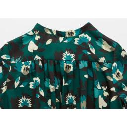 フランス素材 花柄ロングワンピース Back Style