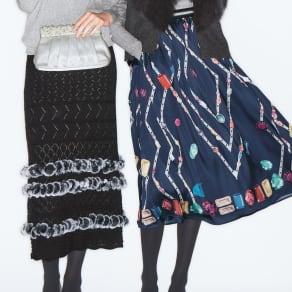 宝石柄プリントスカート 写真