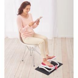 AEROLIFE/エアロライフ モーションナビ (イ)ピンク 交互踏み込み 床保護マット付き。