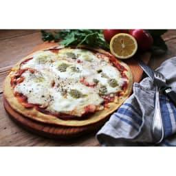 「低糖専門キッチン 源喜」 具だくさん大豆粉ピザ3種セット 【マルゲリータ】※盛り付け例