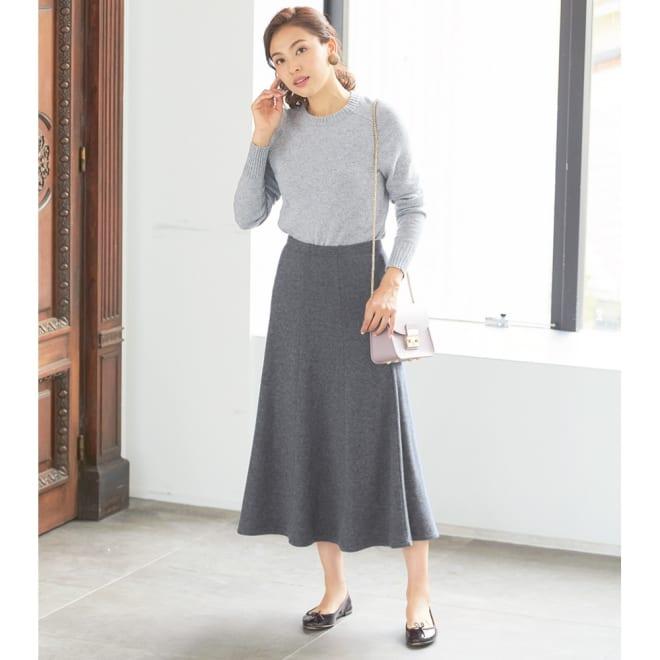 8枚接ぎドレープスカート コーディネート例
