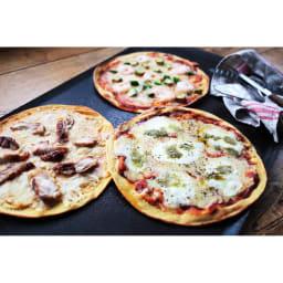 「低糖専門キッチン 源喜」 具だくさん大豆粉ピザ3種セット ※盛り付け例