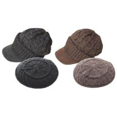ニット帽子2種セット(キャスケット&ベレー帽)