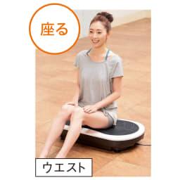 3Dエクサウェーブ 直接座るとウエスト周りの運動に