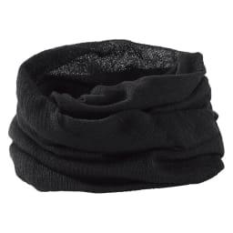 UVカットシルクシリーズ シルク100%UVネックカバー (ウ)ブラック