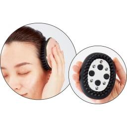 小林照子プロデュース ヴィドシー アール美顔器 付属の頭皮用アタッチメントで、頭皮も一緒にケアできます