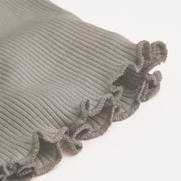 シルクリブシリーズ カップ付リブタンク [リブ感&裾メロウ] 裾は締め付けや縫い目のあたりを感じにくいメロウ始末。
