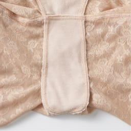 骨盤底筋 ケアガードル 2色組 ロング2枚組(M・L・LL) クロッチ部分は綿混素材で、防水布内蔵だから安心。