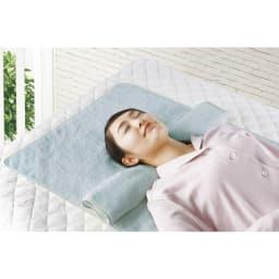 今治ピローレスタオル 枕なしのいいところ 首のシワがよらない 寝返りしやすい 首への負担が軽い