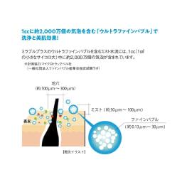 ミラブル シャワーヘッド ミラブルプラス シャワーヘッドケア(本体+トルネードスティック) ※毛根開口部洗浄