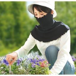 涼感UVフェイスガード 同色2枚組 両手がふさがる作業で汗をかいても、吸い取ってくれるから大助かり。