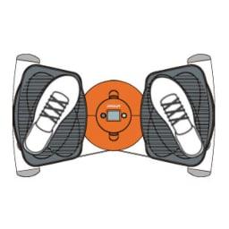AEROLIFE/エアロライフ コアビクサー (ヒップ 内向き乗り)シェイプ部位に合わせ「踏みこみ」をセレクトできる超ワイドプレート 踏みこむ足の位置で気になるお尻や太ももの内側、外側を選んでエクササイズできます。