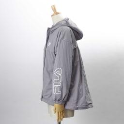 FILA 薄中綿の防風マルチブルゾン(はっ水・防風・UV) (イ)グレー・・・SIDE