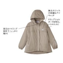 FILA 薄中綿の防風マルチブルゾン(はっ水・防風・UV) (ウ)モカベージュ