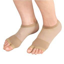 プラスウォーク 薄型外反母趾サポーター 4足組(8枚) ズレにくいくるぶし丈。