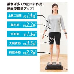 【送料無料】ルルド シェイプアップボード ※未使用時の筋活動量を1倍とした時の比較。振動中における5秒間の平均筋活動量の測定。(20~70代男性9名、女性2名)大阪体育大学体育学部調べ