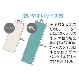 エアーかおる 今治消臭タオル フェイスタオル 同色2枚組 (34×85cm)