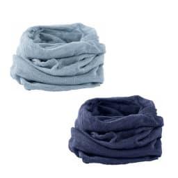 UVカットシルクシリーズ シルク100%UVネックカバー 左上(04)パウダーブルー 、右下(05)ダークパープル
