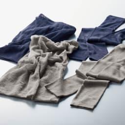 UVカットシルクシリーズ シルク100%UVロングアームカバー 上から(エ)ダークパープル (ア)グレー