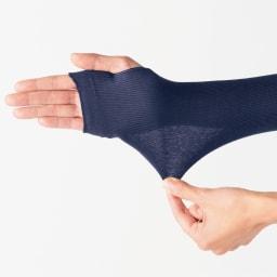 UVカットシルクシリーズ シルク100%UVロングアームカバー 優しくホールドしてくれる生地感