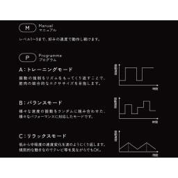 【送料無料】ルルド シェイプアップボード プログラムモードは速度が自動変化する3モード(表示パネル右側にAbCで表示):A(トレーニングモード)、bバランスモード、cリラックスモード