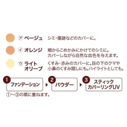 かづき クイックカバーリングペンシルUV 色が選べる3本セット