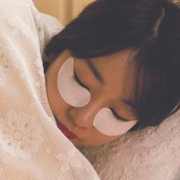 オーアンジェ 50周年特別セット(プレミアムパワーストックACEケース入り30カプセル+パワーローションプラス(150ml)+プレミアムアイマスク(30セット)) 【プレミアムアイマスク】パワーストックをつけた肌に貼って、そのまま寝てもOK