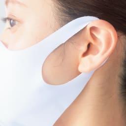 抗菌仕様 FIT MASK 10枚組 耳が痛くなりにくい!ストレッチ性があり、柔らかな素材なので長時間つけていても耳が痛くなりにくい。