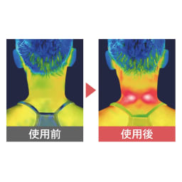 NIPLUX ネック リラックス/NECK RELAX 温熱効果で首をじんわりあたためリラックス 2段階の温度調節ができるので、お好みの温度で使えます。 ※メーカー調べ