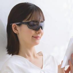目を労わるアイケア眼鏡 セラピーグラス コーディネート例