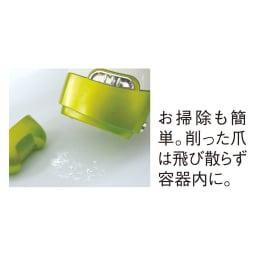 電動爪削り Leaf DX お掃除も簡単。削った爪は飛び散らず容器内に。