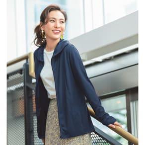 MIZUNO/ミズノ 着る木陰シリーズ スタイルアップパーカ 写真