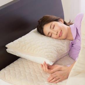ファイテン 抗菌防臭リラックス寝具シリーズ リバーシブル 枕パッド(普通版サイズ)2枚組 写真