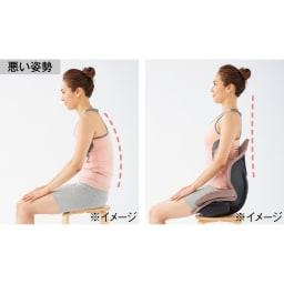 芦屋美整体 骨盤プロリセットエアー 座ることで自然と美姿勢が目指せる! 悪い姿勢は身体バランスを崩す元に。腰の左右と後ろから包み込み、骨盤が立った状態で楽に座れるように設計されています。