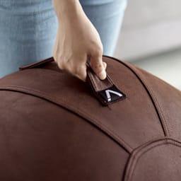 VIVORA/ヴィヴォラ バランスボール レザー調 (イ)ブラウン ハンドル付きなので移動も簡単