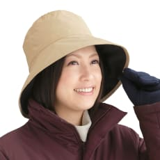 防水防寒リバーシブル帽子