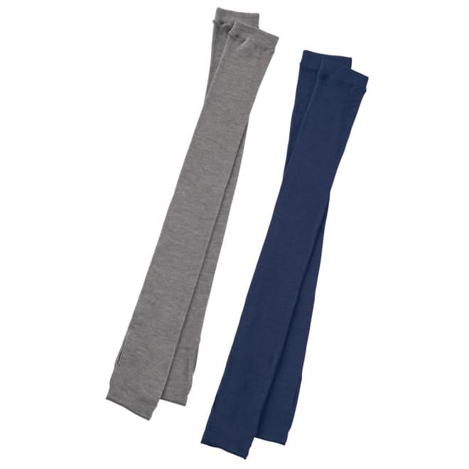 UVカットシルクシリーズ シルク100%UVロングアームカバー 左から(ア)グレー (イ)ダークパープル ノースリーブの腕もカバーする超ロング丈 シルク100%UVロングアームカバー