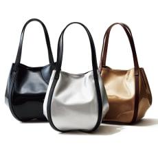 牛革 デザインバッグ