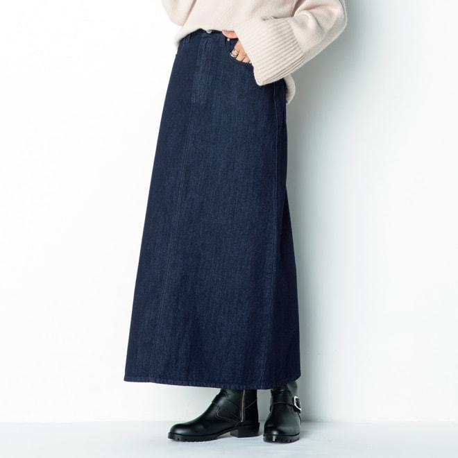 リジッド風デニム スカート 着用例