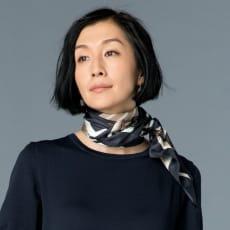 シルクツイル プリント スカーフ