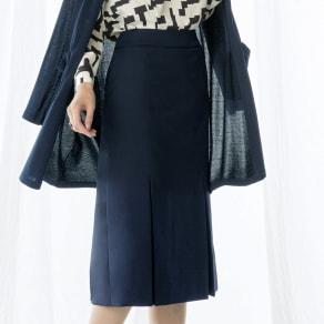 ウール混 ドビー タックデザイン スカート 写真