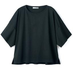 コンパクトコットン ビッグスリーブ Tシャツ (イ)ブラック