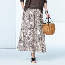 【股下丈70cm】 リベコ社 裾ベント入り リネン セミワイドパンツ