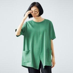 bx/ビーエクス 40双糸 クルーネック ビッグTシャツ 写真