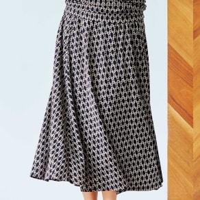 ジオメトリック柄 ジャージーシリーズ フレアースカート 写真