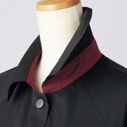 ダブルフェイス ステンカラーコート 台襟部分
